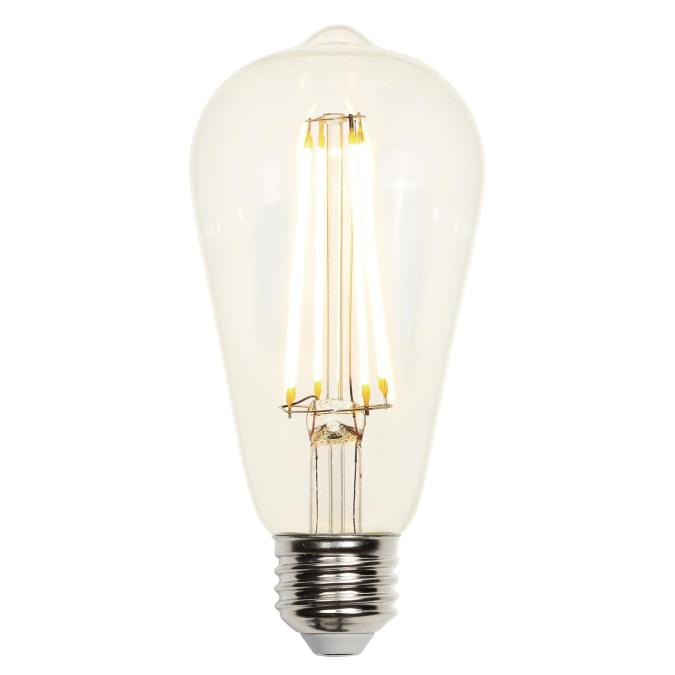 8 Watt 60 Equivalent St64 Dimmable Filament Led Light Bulb