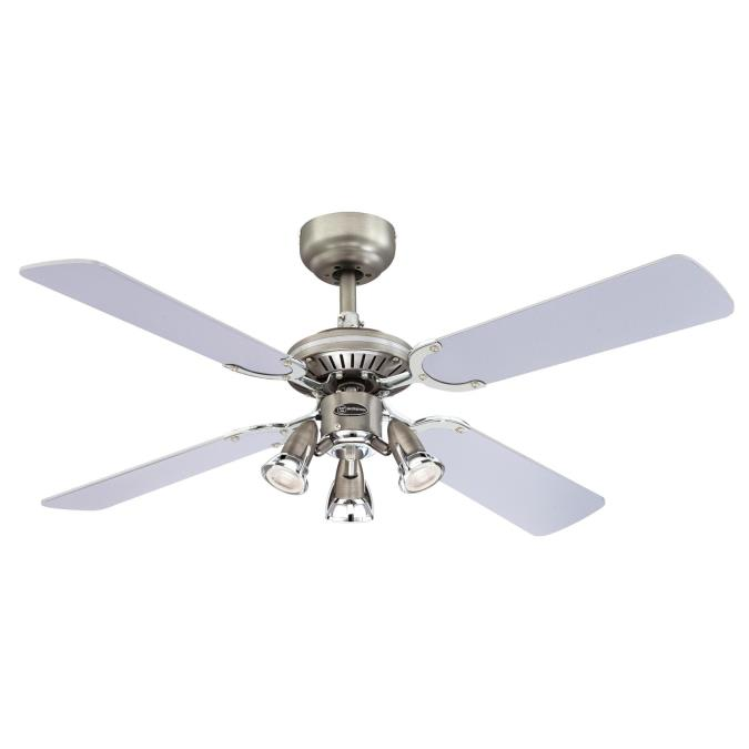 Westinghouse princess euro 105 cm reversible four blade indoor princess euro 105 cm indoor ceiling fan with light kit aloadofball Image collections