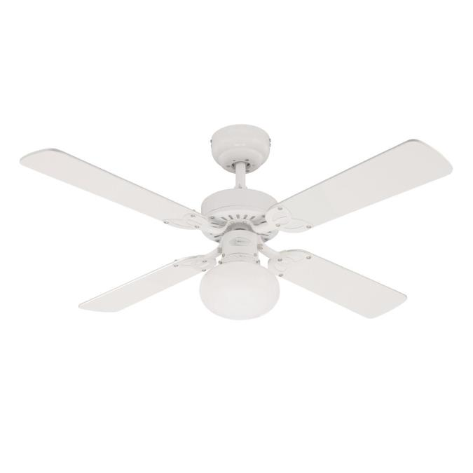 105 cm westinghouse vegas ceiling fan in white with reversible vegas 105 cm42 inch reversible four blade indoor ceiling fan mozeypictures Images