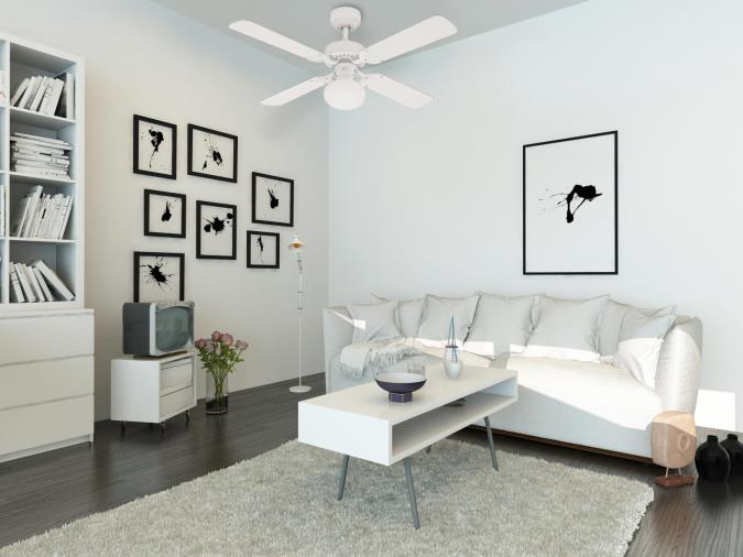 105 cm westinghouse vegas ceiling fan in white with reversible 105 cm westinghouse vegas ceiling fan in white with reversible blades in white pine aloadofball Choice Image