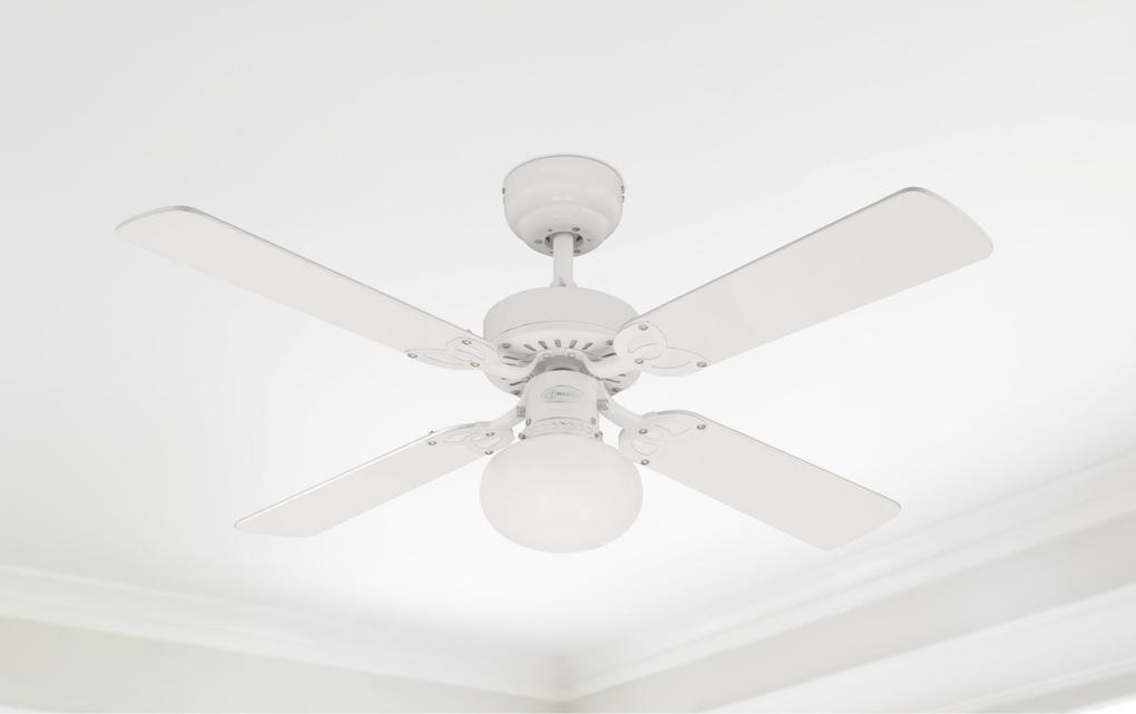 105 cm westinghouse vegas ceiling fan in white with reversible vegas 105 cm42 inch reversible four blade indoor ceiling fan aloadofball Choice Image