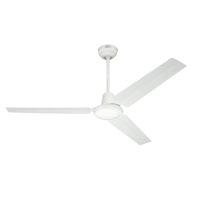 142 cm westinghouse industrial ceiling fan in white with white steel blades. Black Bedroom Furniture Sets. Home Design Ideas