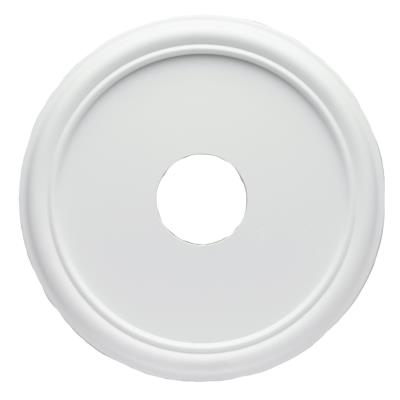 40,6 cm Smooth Molded Plastic Ceiling Medallion