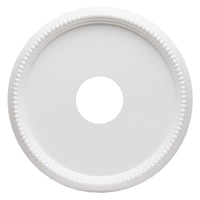 40 cm Round Beaded Molded Plastic Ceiling Medallion
