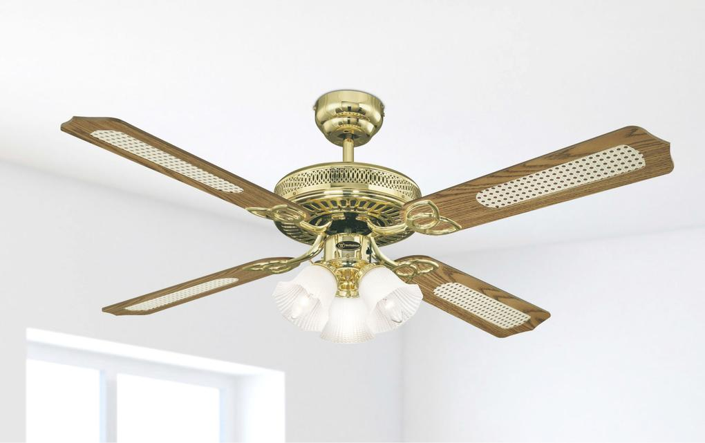 132 Cm Westinghouse Monarch Trio Ceiling Fan In Polished