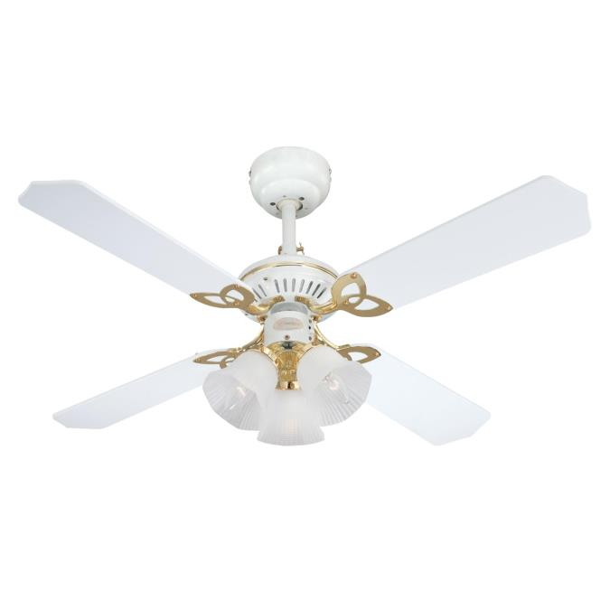 105 cm westinghouse princess trio ceiling fan in white with polished princess trio 105 cm42 inch reversible four blade indoor ceiling fan aloadofball Image collections