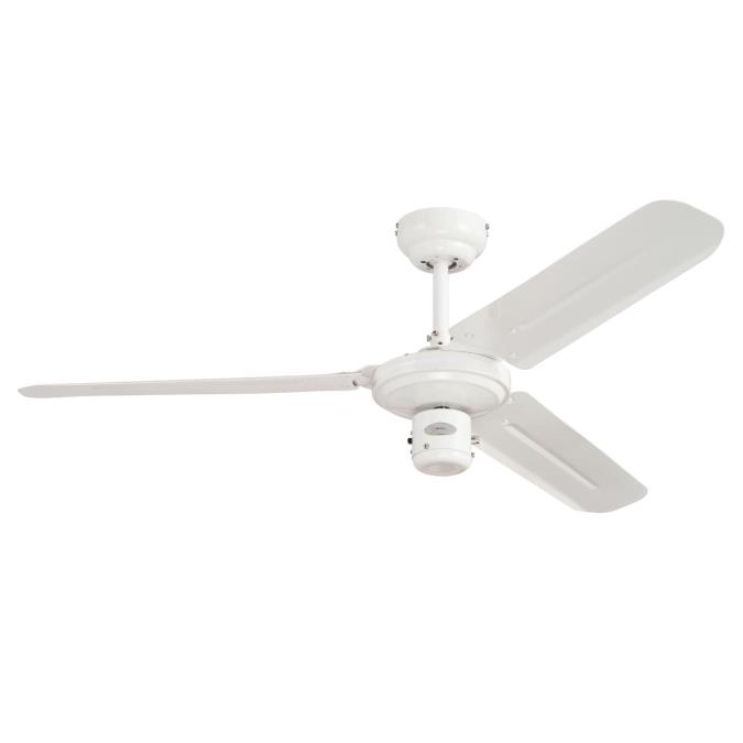 122 cm westinghouse industrial ceiling fan in white with white steel industrial 122 cm48 inch thee blade indoor ceiling fan aloadofball Gallery