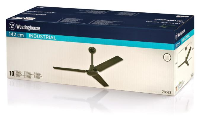 142 Cm 56 Inch Three Blade Indoor Ceiling Fan