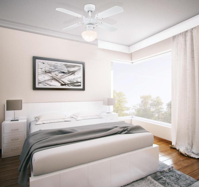 Petit ventilateur plafond lampe Portland ambiance Chrome 90 cm de Westinghouse